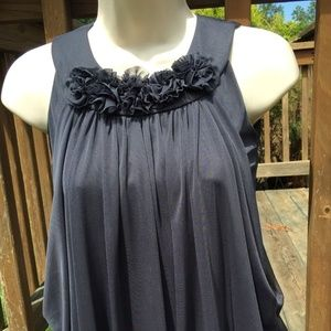 BLUSH GRAY CONTEMPORARY PARTY DRESS SIZE M